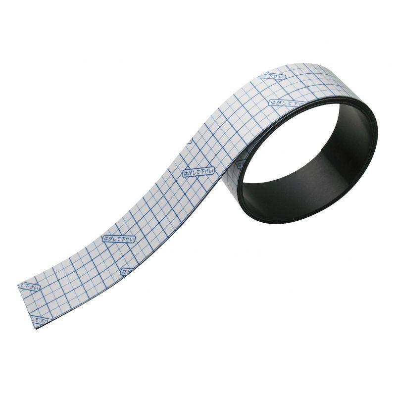 画像1: マグネット粘着テープ 30mm幅 カッティングライン付 (1)