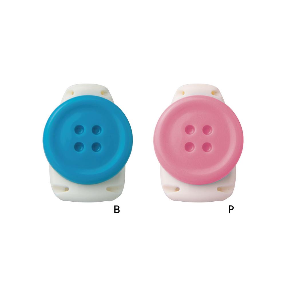 画像1: キッズクリップ ボタン 服に穴が開かない名札留め (1)