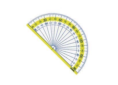 画像1: 楽しく学習 分度器 9cm (1)