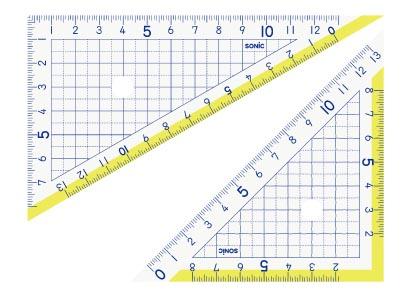 画像1: 楽しく学習 三角定規 13cm (1)